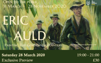 POSTPONED UNTIL FURTHER NOTICE:                   Eric Auld Exhibition Preview Evening: Saturday 28th March 2020